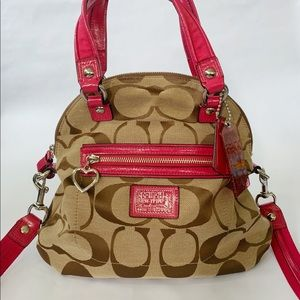 Coach Poppy Satchel F22941 with Pink Accents